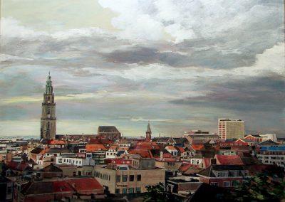 Stadspanorama Groningen (120x95cm)