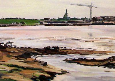 Rijn bij Millingen (120x43cm)