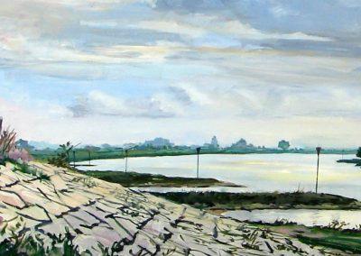 Dijk bij Westervoort (120x43cm)